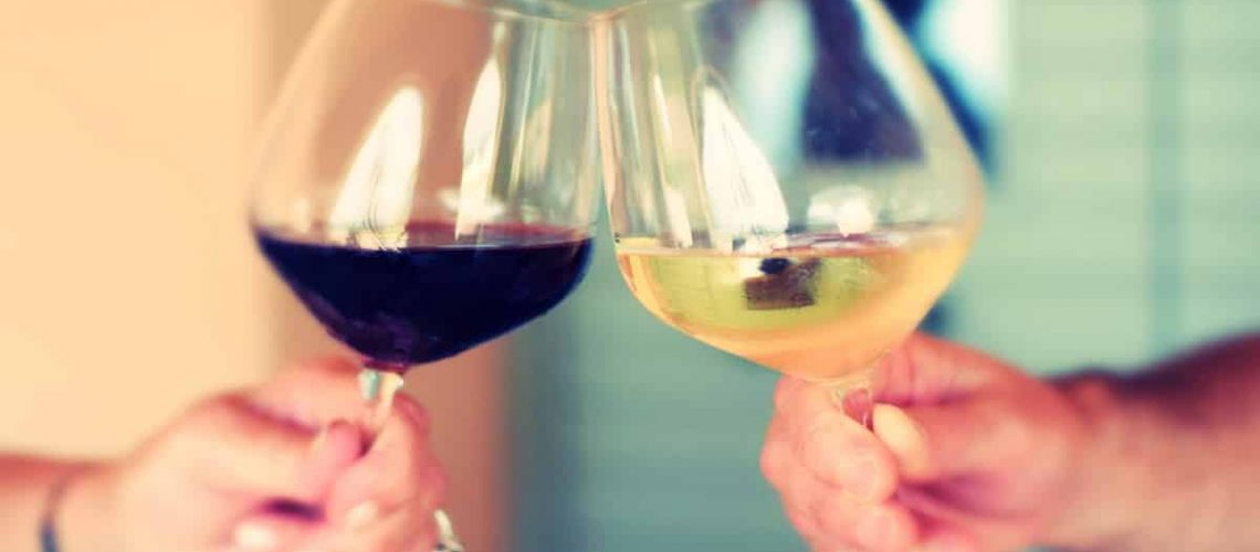 two wine glasses together fb